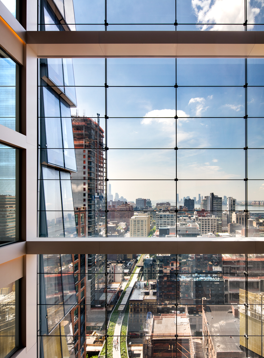 10 Hudson Yards, view of High Line from Coach office space, (c) Steve Freihon for Related-Oxford