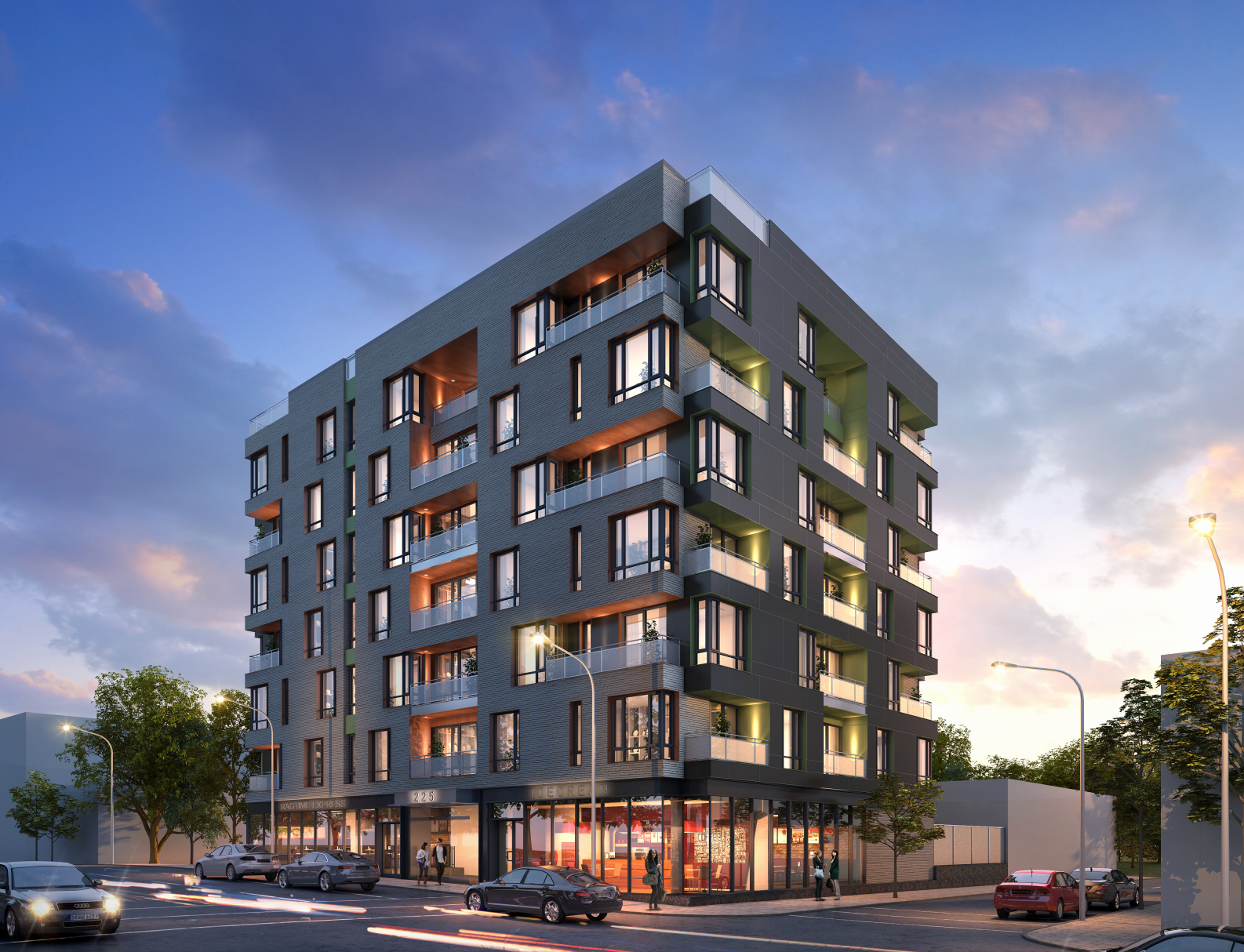 221 East 138th Street, rendering by Michael Muroff Architect