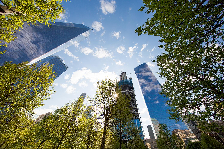 One World Trade Center, 7 World Trade Center, 3 World Trade Center, and 4 World Trade Center. Credit: Joe Woolhead