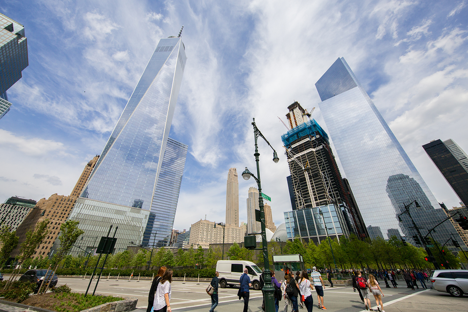 The World Trade Center as seen from West Street and Liberty Street. Credit: Joe Woolhead