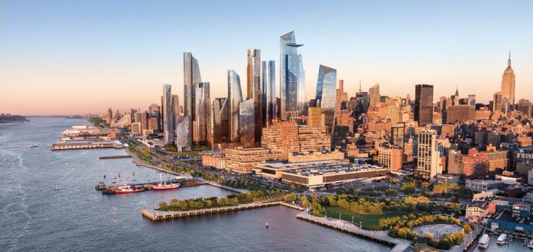 Rendering of Hudson Yards. Via Related
