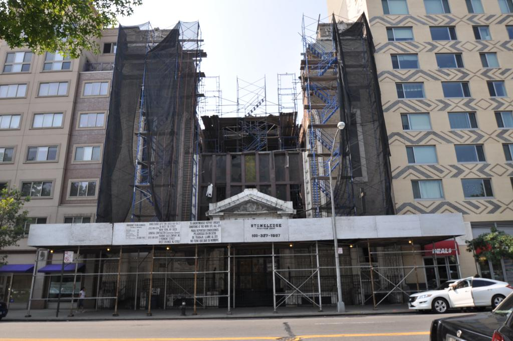 Roof-less Harlem Baptist Church in September 2011, photo by Christopher Bride for PropertyShark