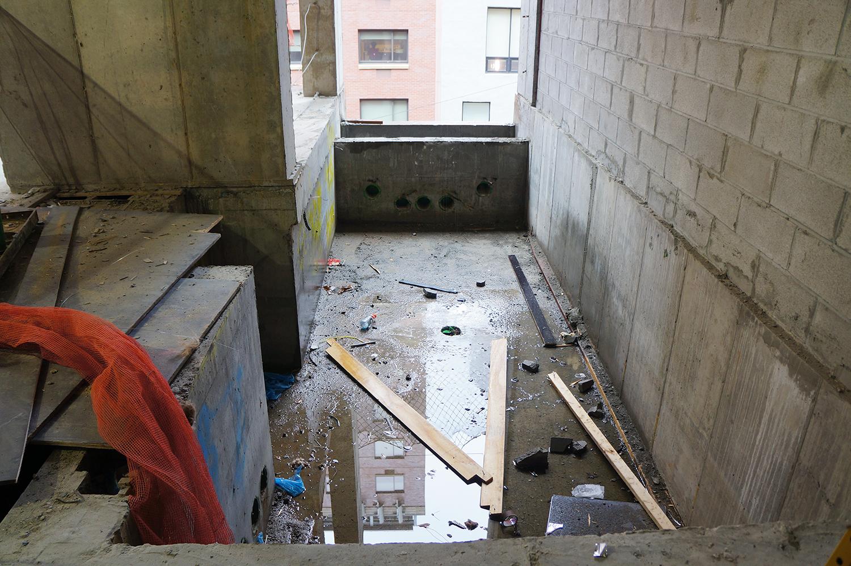 Future pool at a third-floor apartment at Soori High Line.