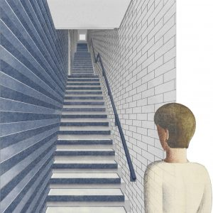 Proposal for interior of stairs at 108 West 123rd Street