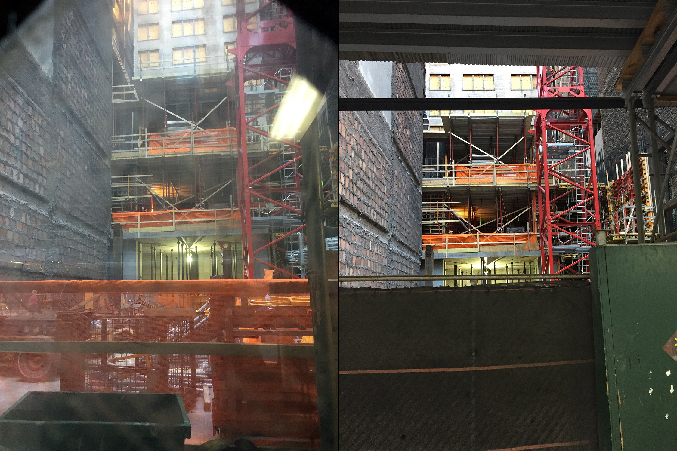 Construction at 111 West 57th Street. Photos by Robert Walpole via YIMBY Forums