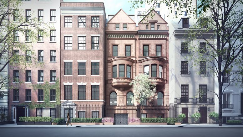Proposed front of 11-15 East 75th Street