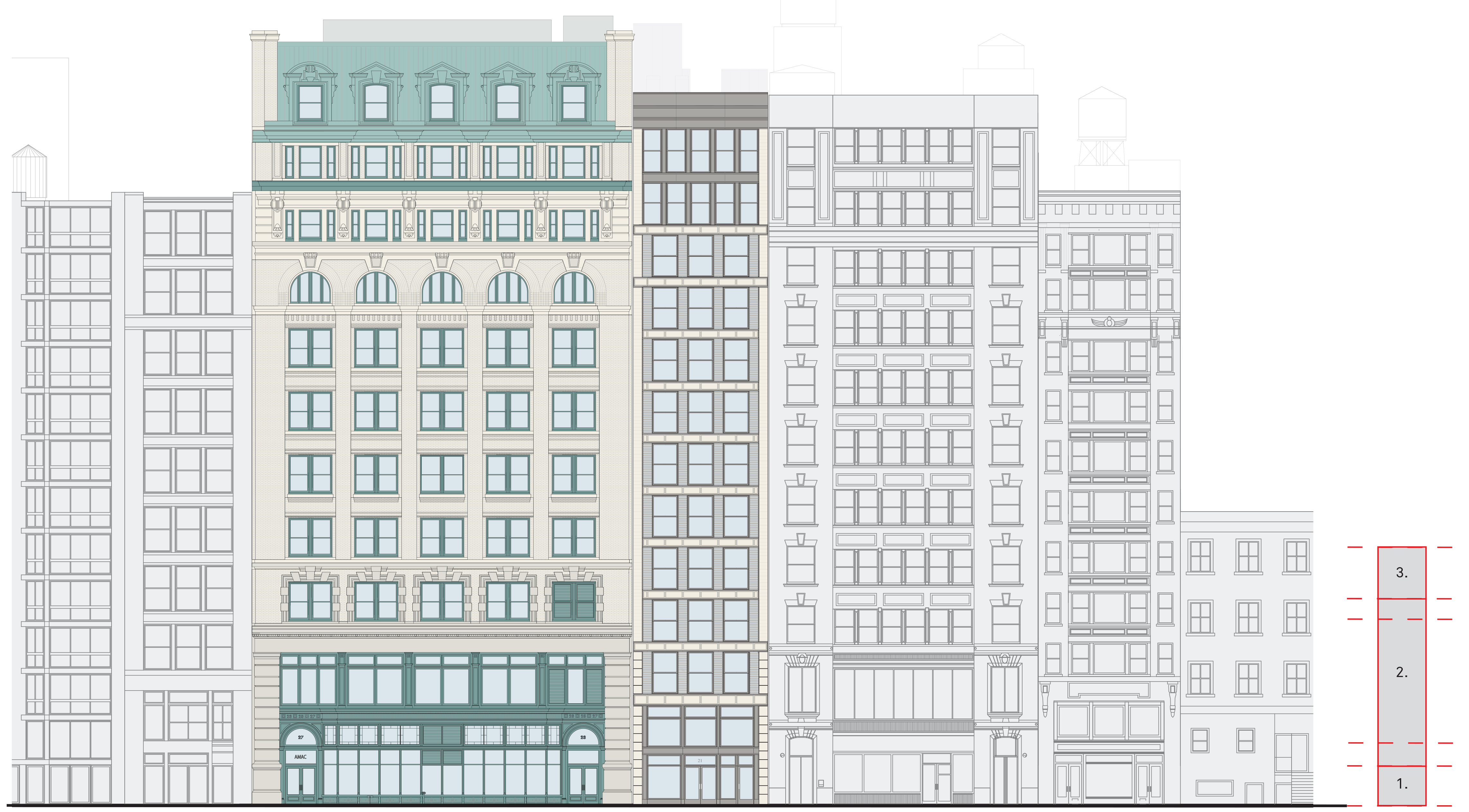 Proposed 17th Street elevation