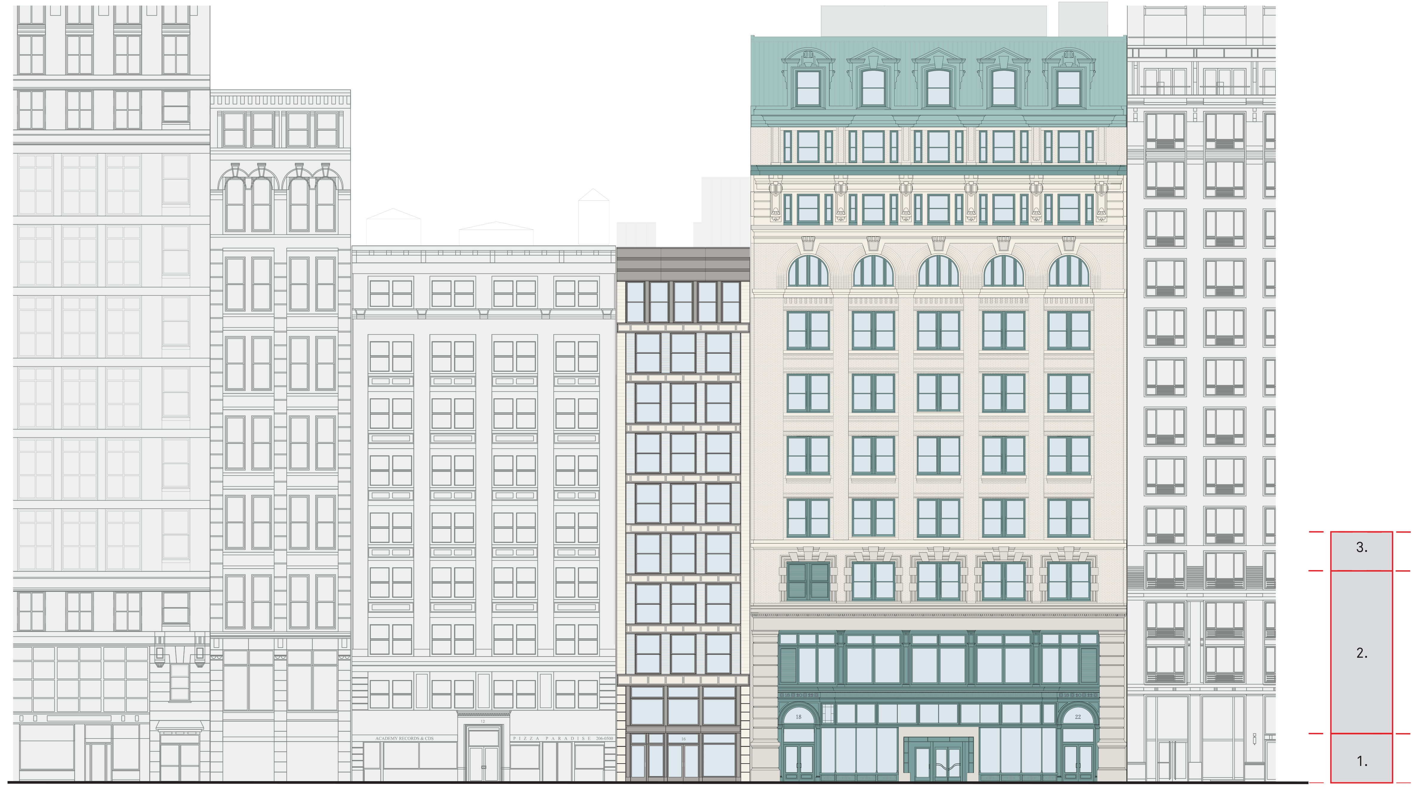 Proposed 18th Street elevation