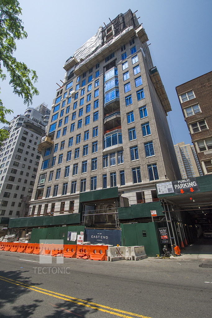 Construction at 20 East End Avenue. Photo by Tectonic