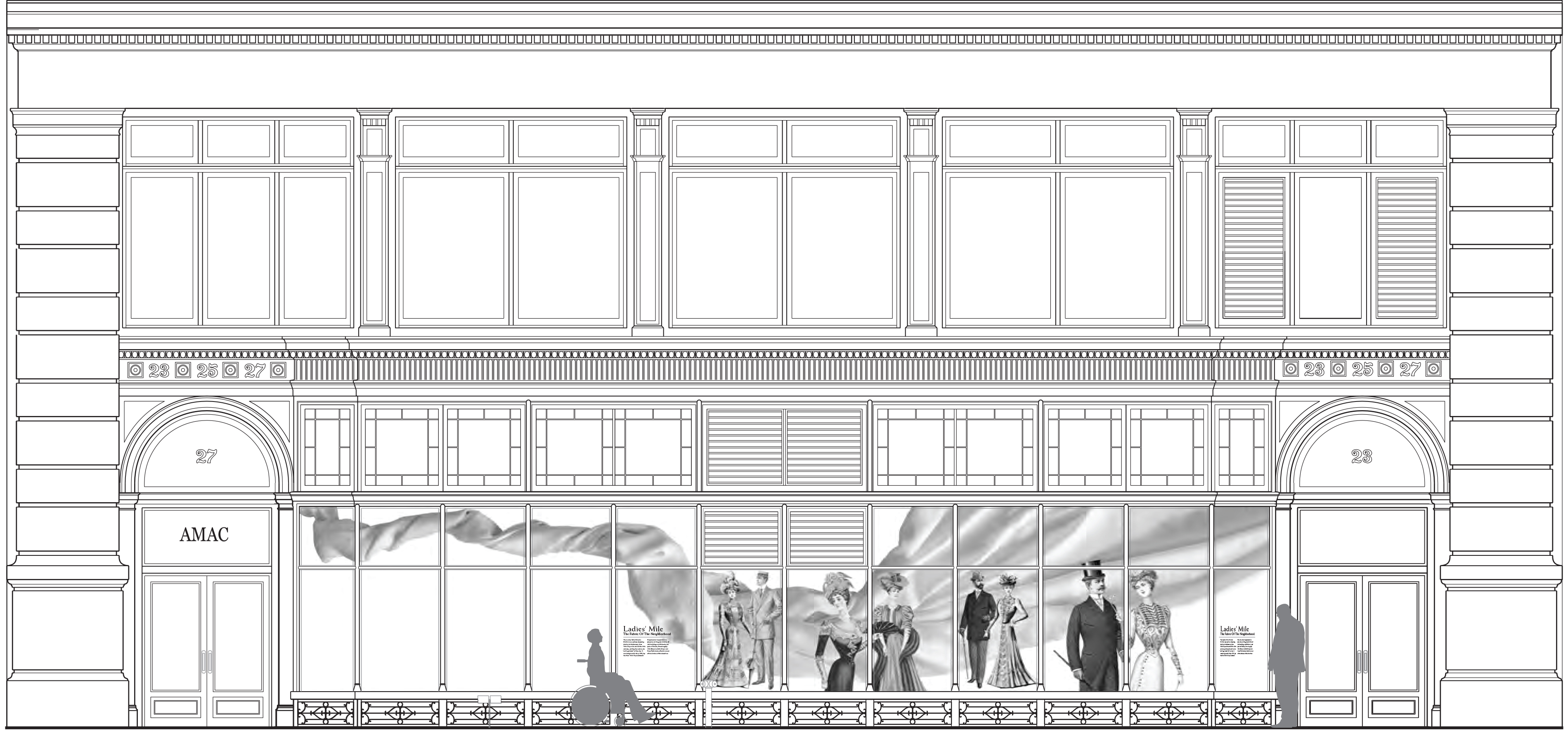 Proposed graphic at 23-27 West 17th Street
