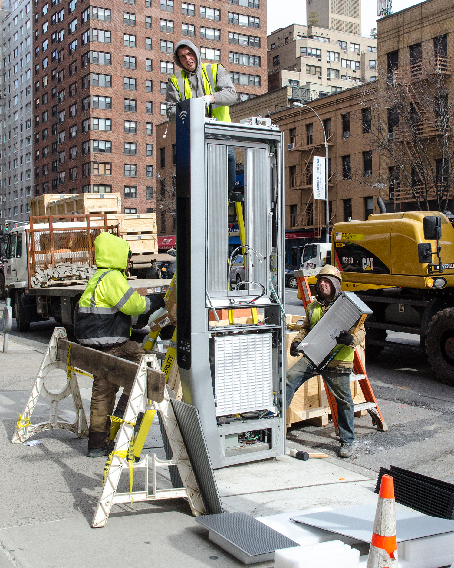 The innards of a LinkNYC kiosk. Credit: Edward Blake/Flickr