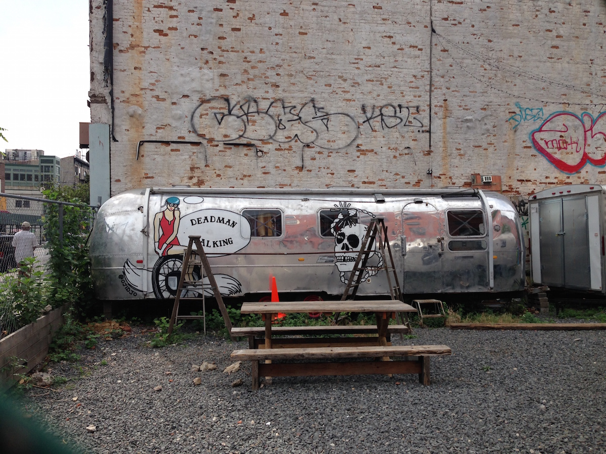 A look at one of 28 Spencer Place's Airstream trailers-turned-vintage stores.