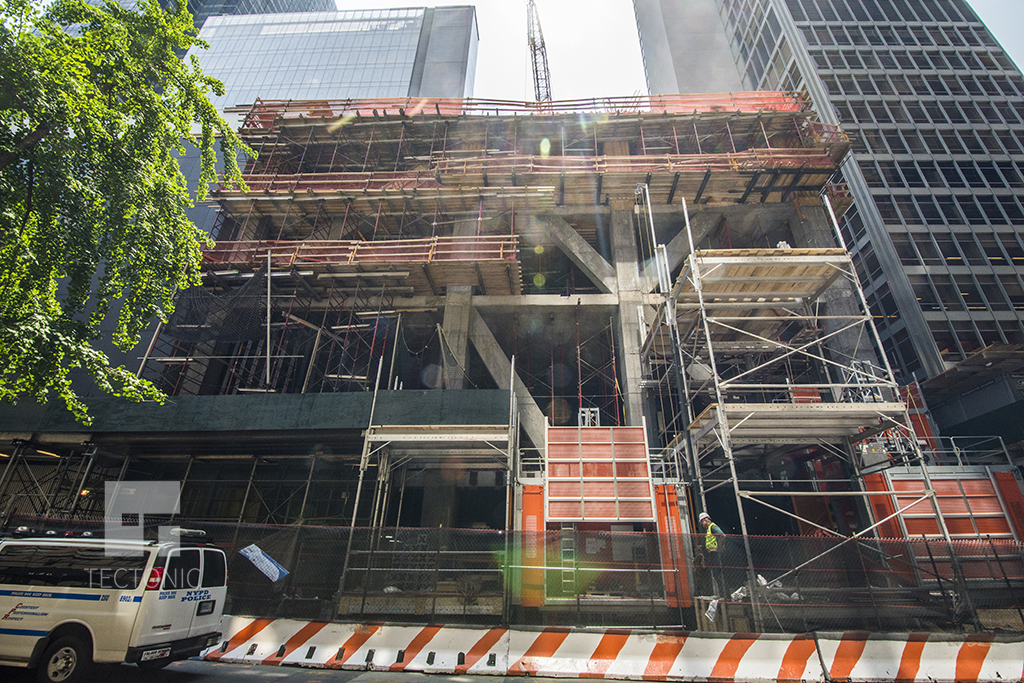 Construction on the 54th Street side of 53W53. Photo by Tectonic