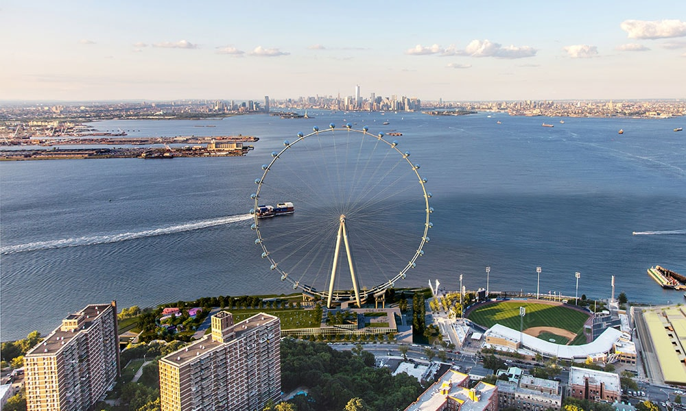 Rendering of the New York Wheel by S9 Architecture/Perkins Eastman
