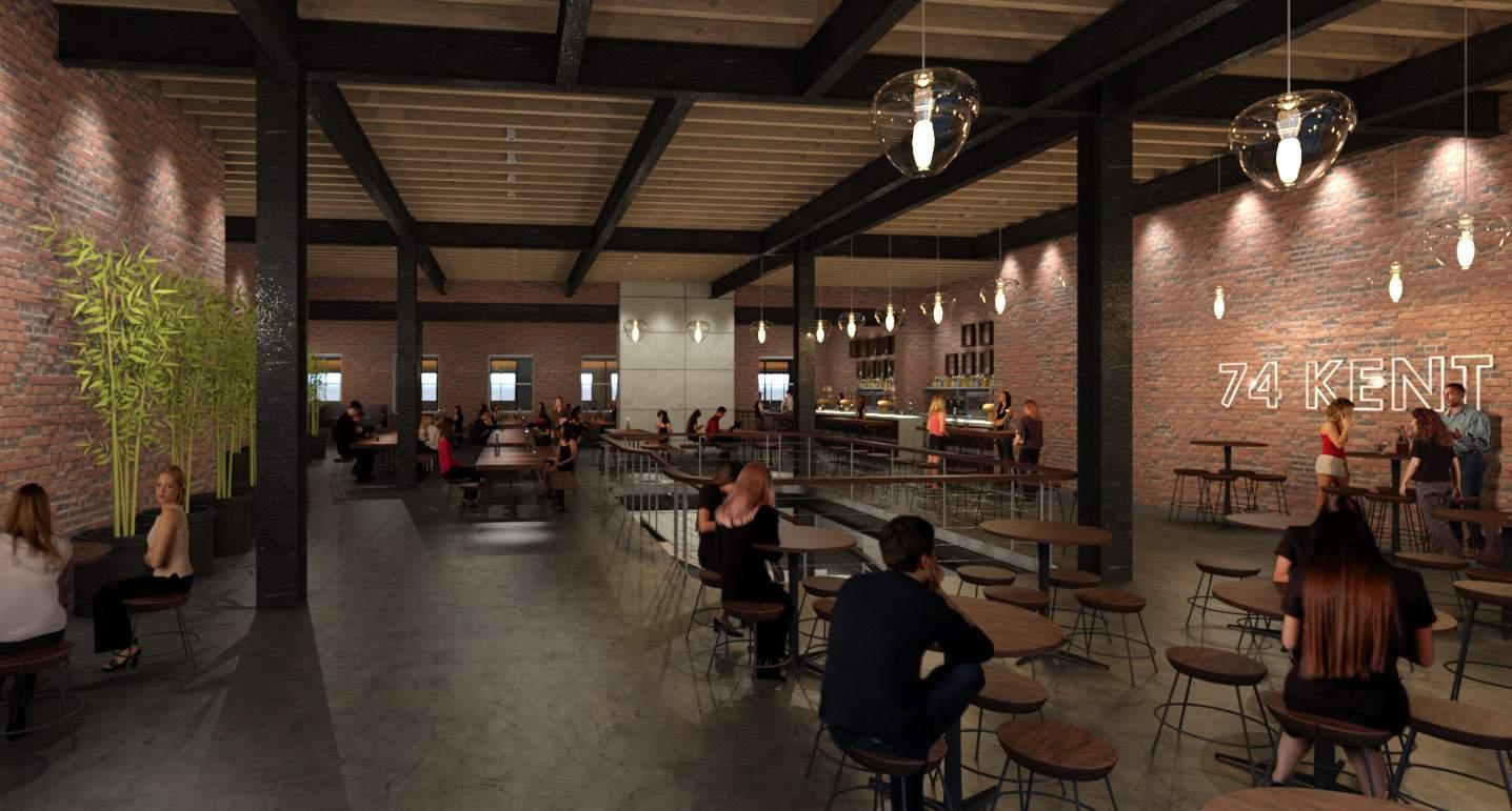 A potential restaurant/bar at 74 Kent, rendering by SGA