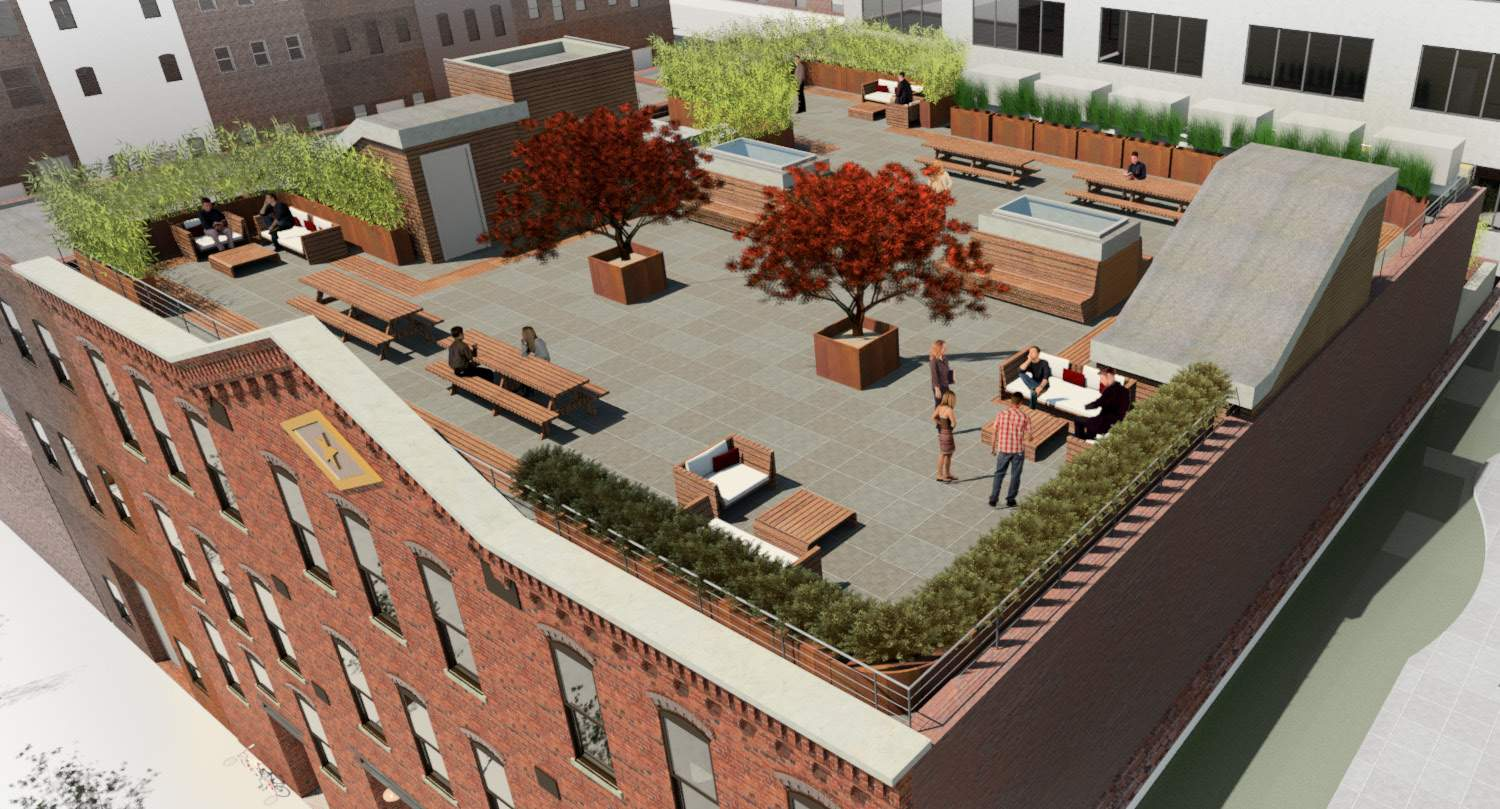 The roof deck. rendering by SGA