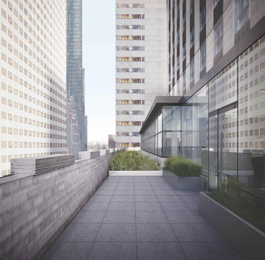 Proposal For 10th Floor Terrace Running Along 52nd Street At 75 Rockefeller Plaza