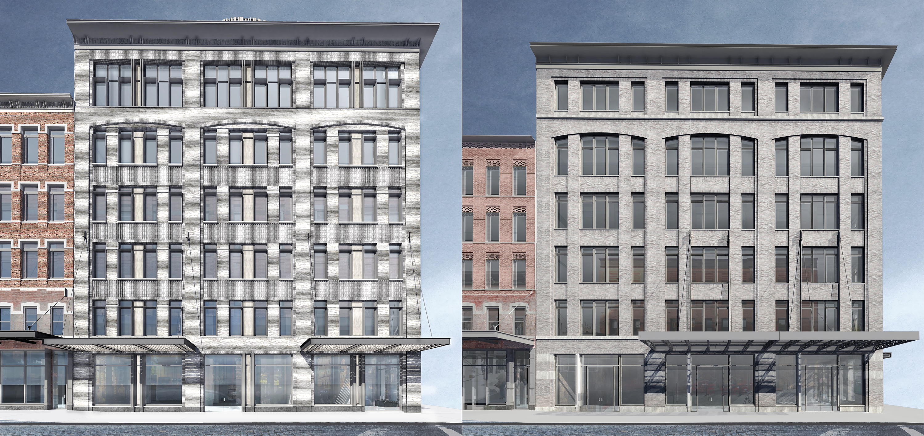 70-74 Gansevoort Street, previous proposal and current proposal