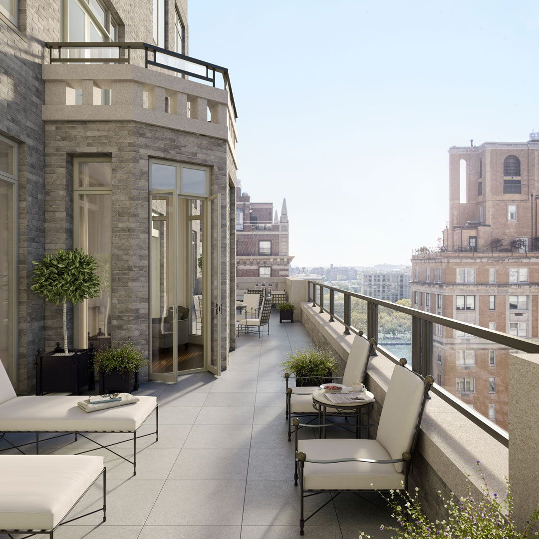 Rendering of a terrace view from 20 East End Avenue