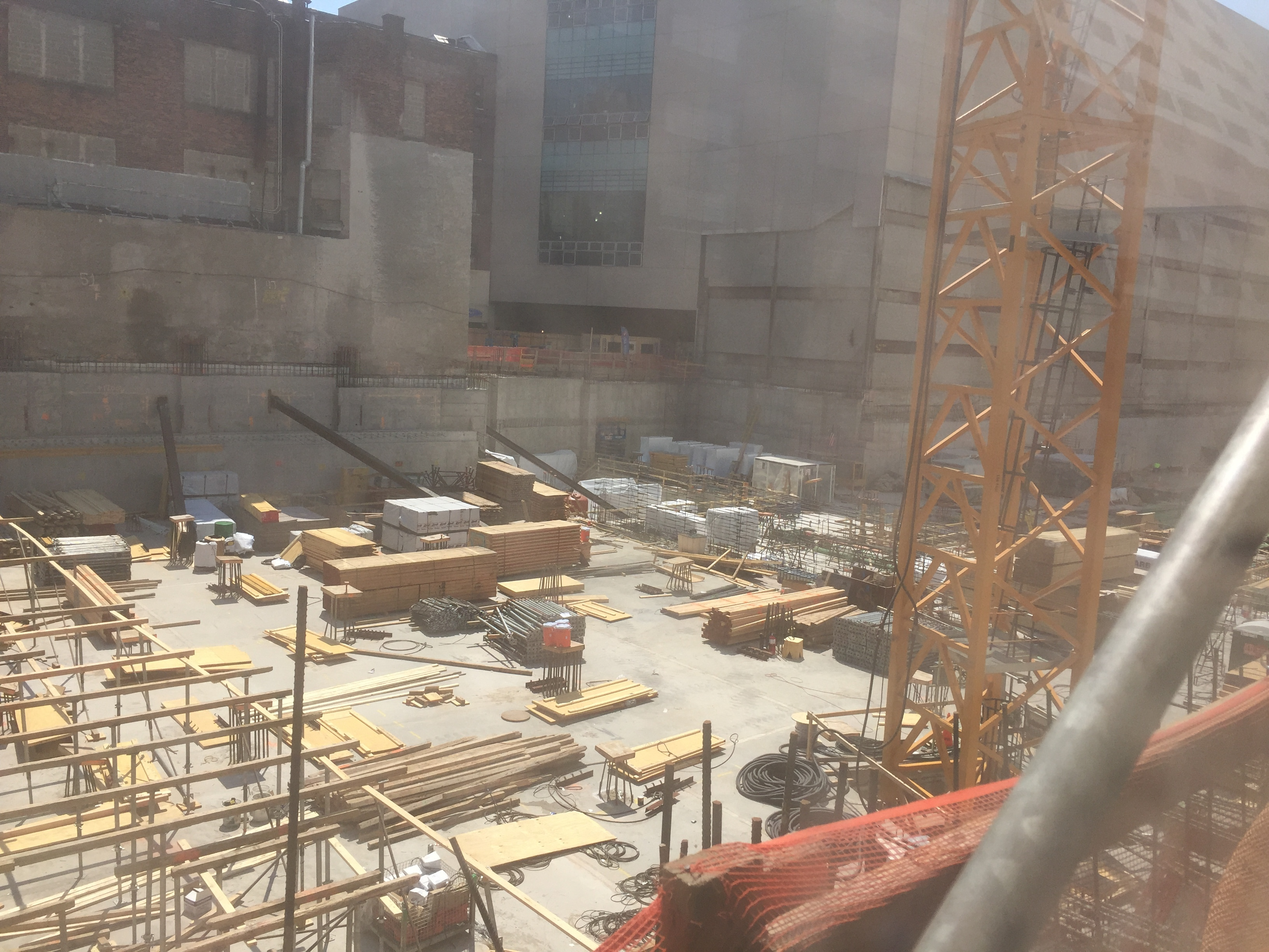 Work at 606 West 57th Street, June 25, 2016. Credit: JC_Heights