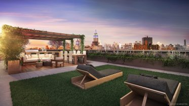 Rendering of the roof deck at 196 Orchard Street. Credit: Williams New York