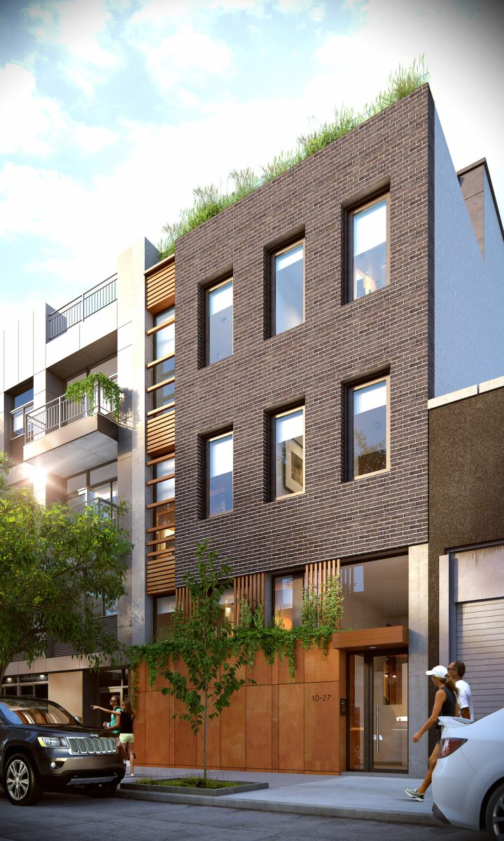 10-27 47th Road, rendering by Jorge Mastropietro Architects