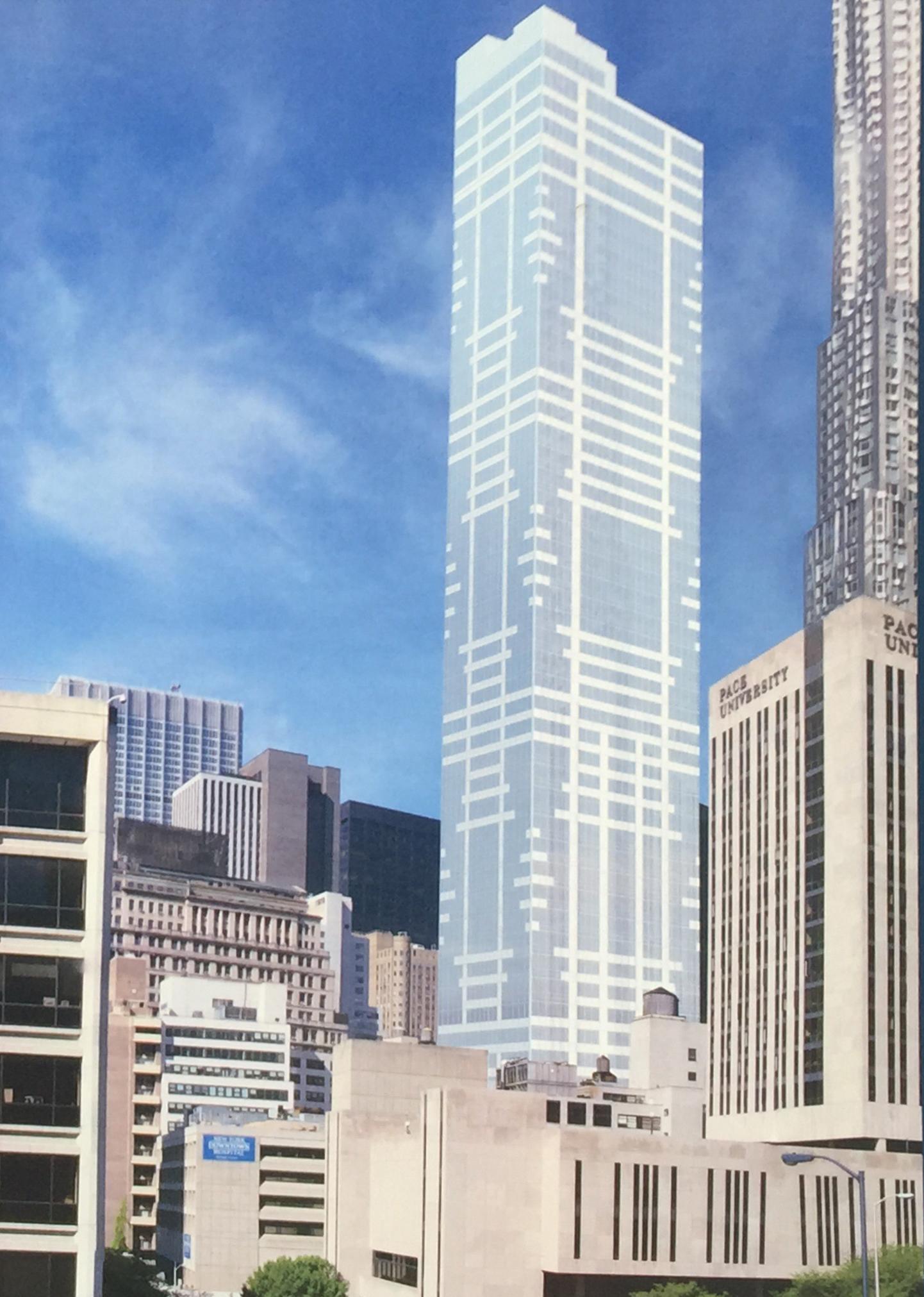 On-site rendering of 118 Fulton Street. Captured by Robert Walpole