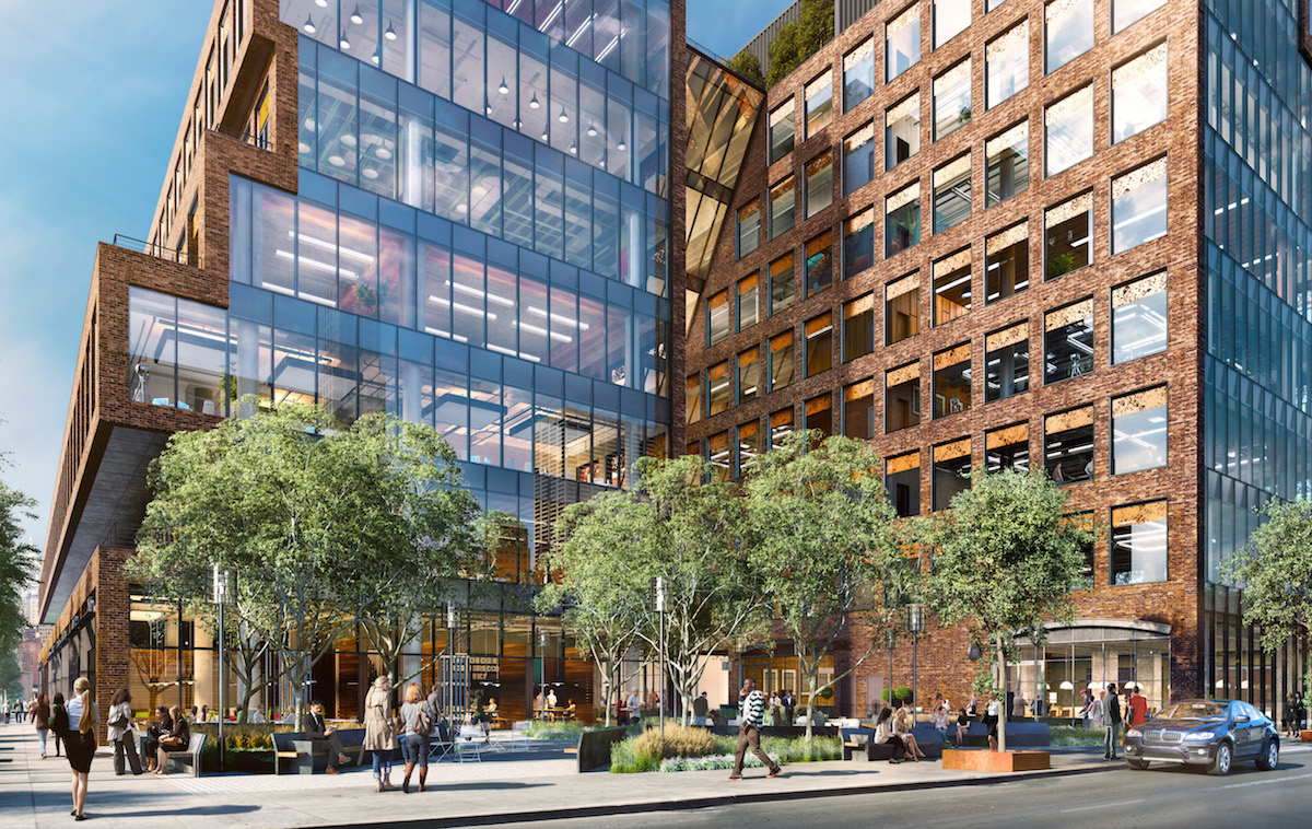 25 Kent Avenue courtyards, rendering by Steelblue