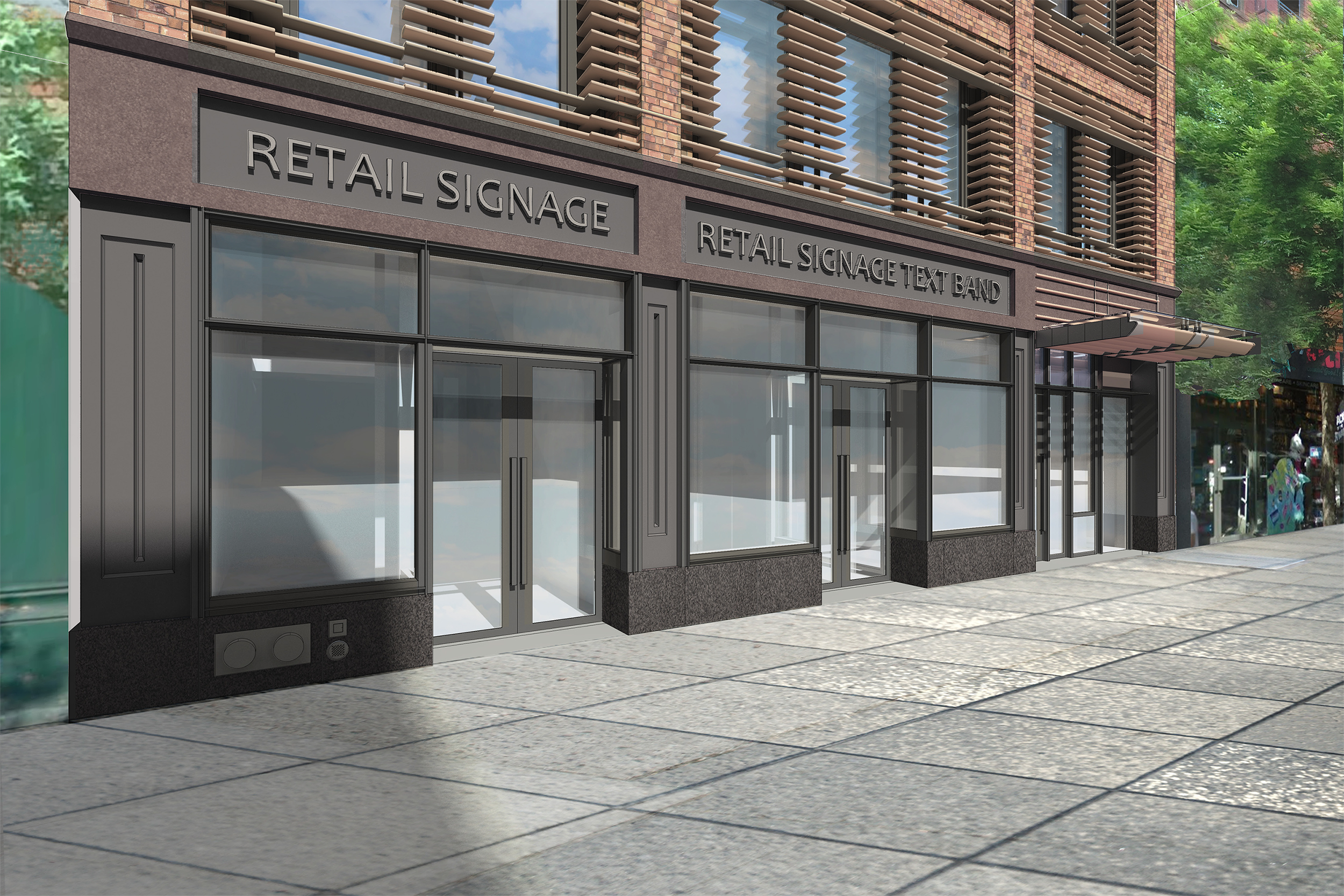 Rendering of the base of 466-468 Columbus Avenue