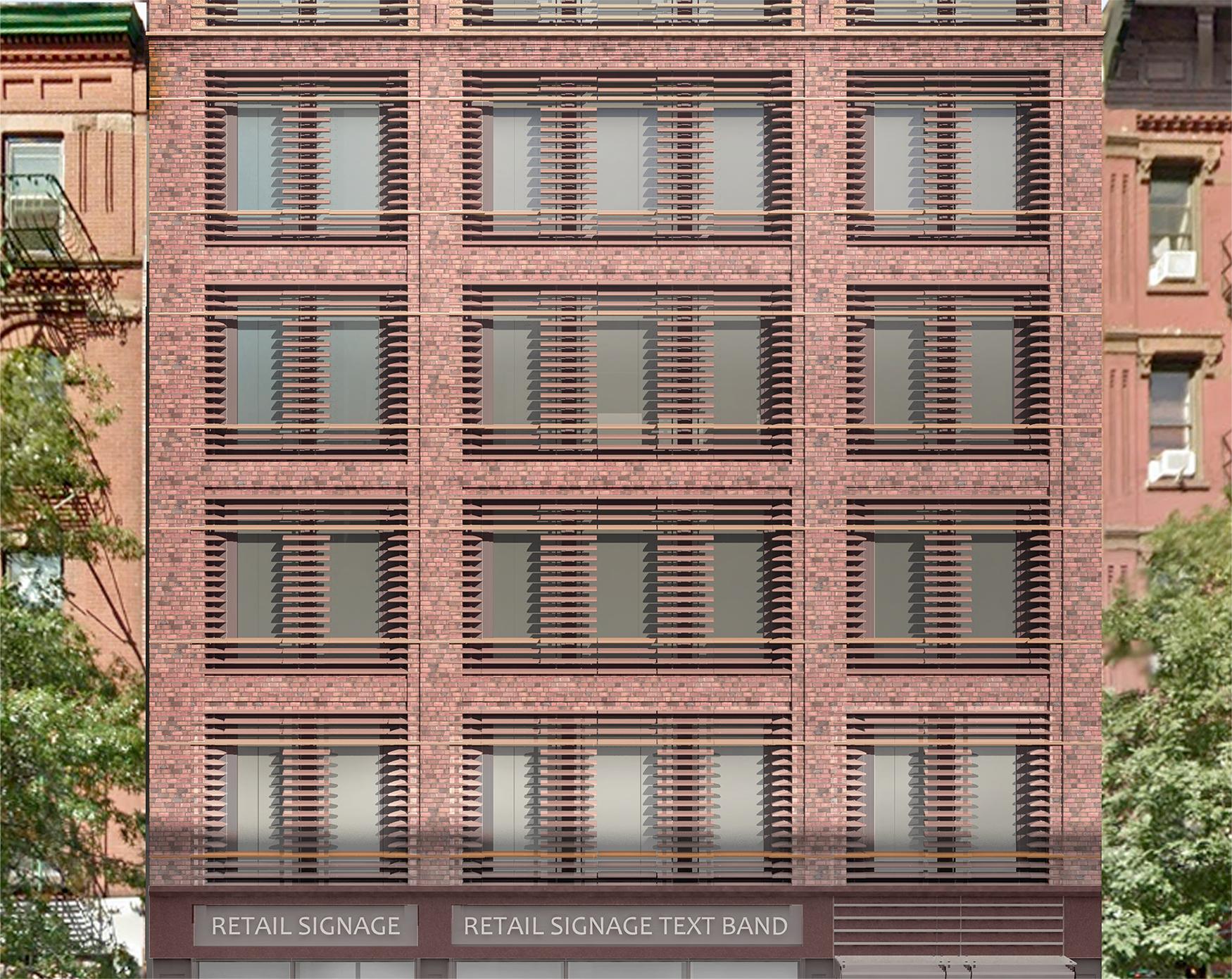 Rendering of lower residential floors of 466-468 Columbus Avenue