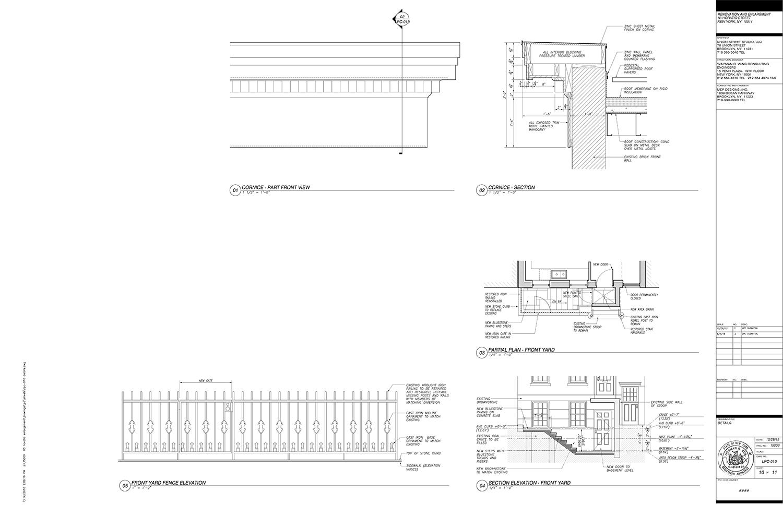 LPC-011 EXISTING FRONT FACADE WINDOWS