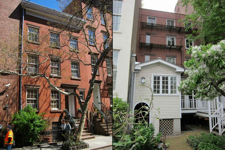 Existing conditions, front and rear, at 83 Horatio Street