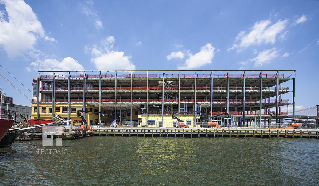 Construction at Pier 17 at the South Street Seaport. Photo by Tectonic