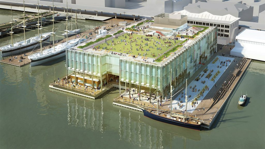 Rendering of Pier 17. Design by SHoP Architects
