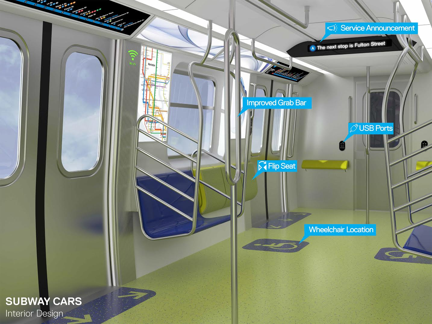 Redesigned Subway Car