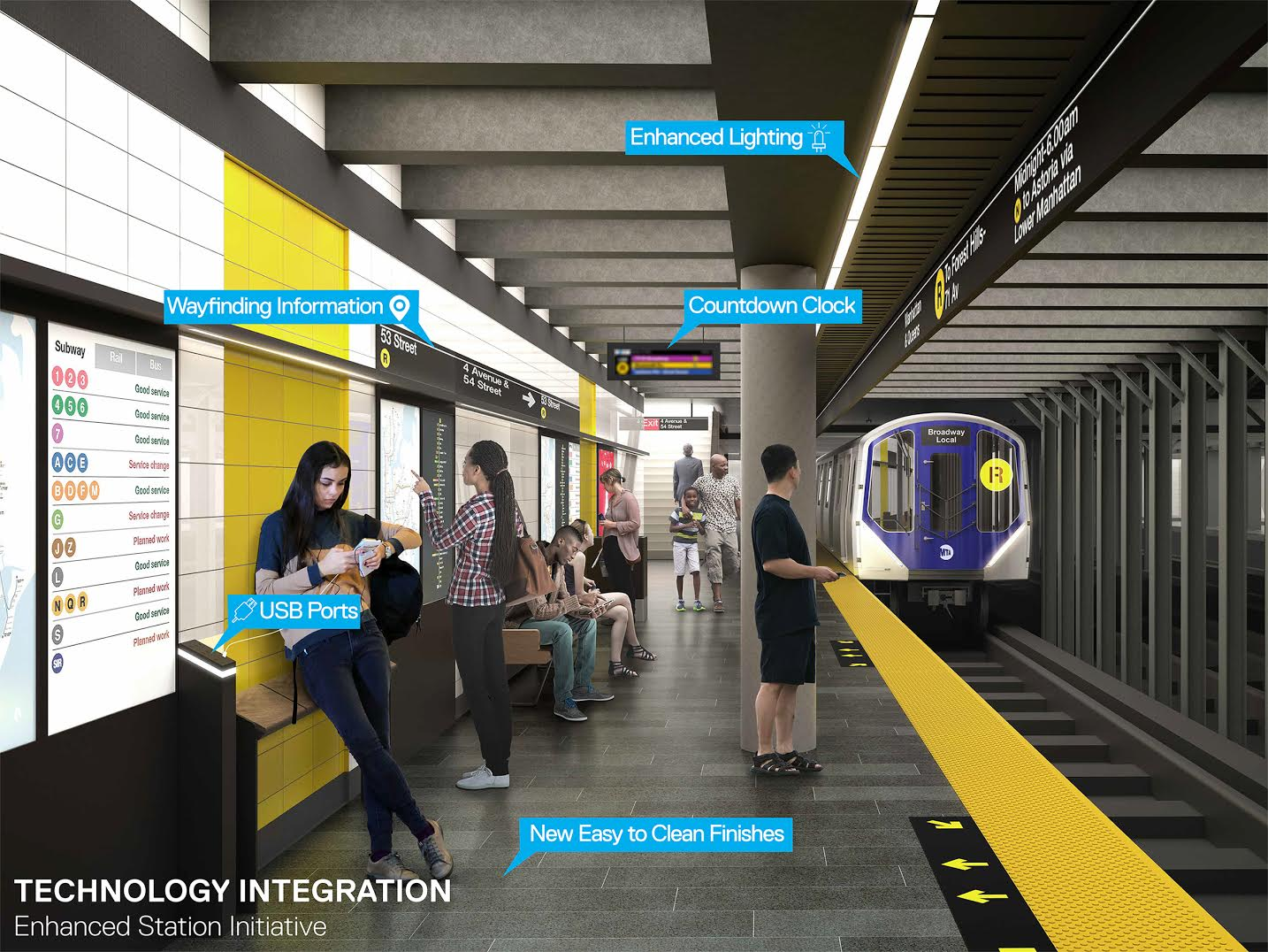 Redesigned Subway Station