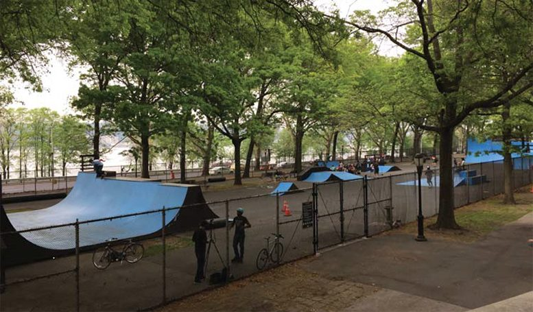 Present-day Riverside Park Skate Park
