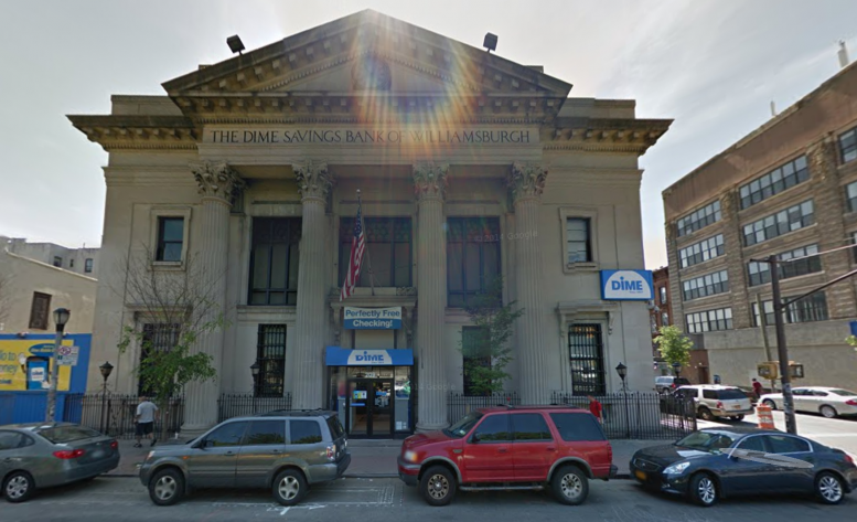 Dime Savings Bank of Williamsburgh in 2014, image via Google Maps