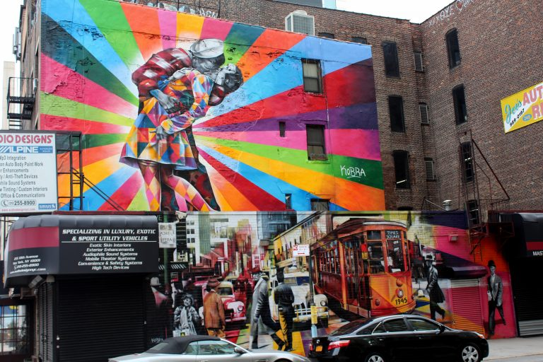 The Eduardo Kobra mural that used to occupy the side of 253 10th Avenue, which is about to be redeveloped.