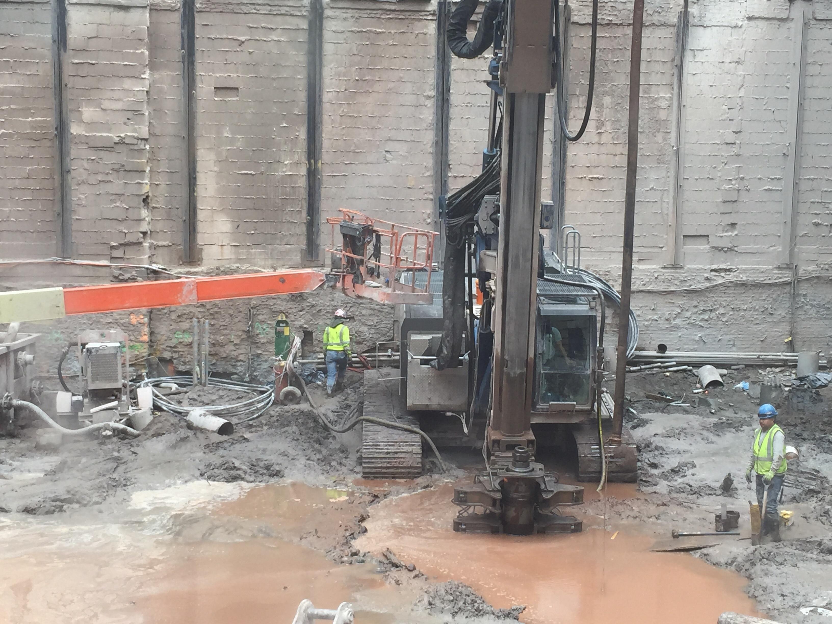 Work at 118 Fulton Street on July 1, 2016. Photo by Robert Walpole