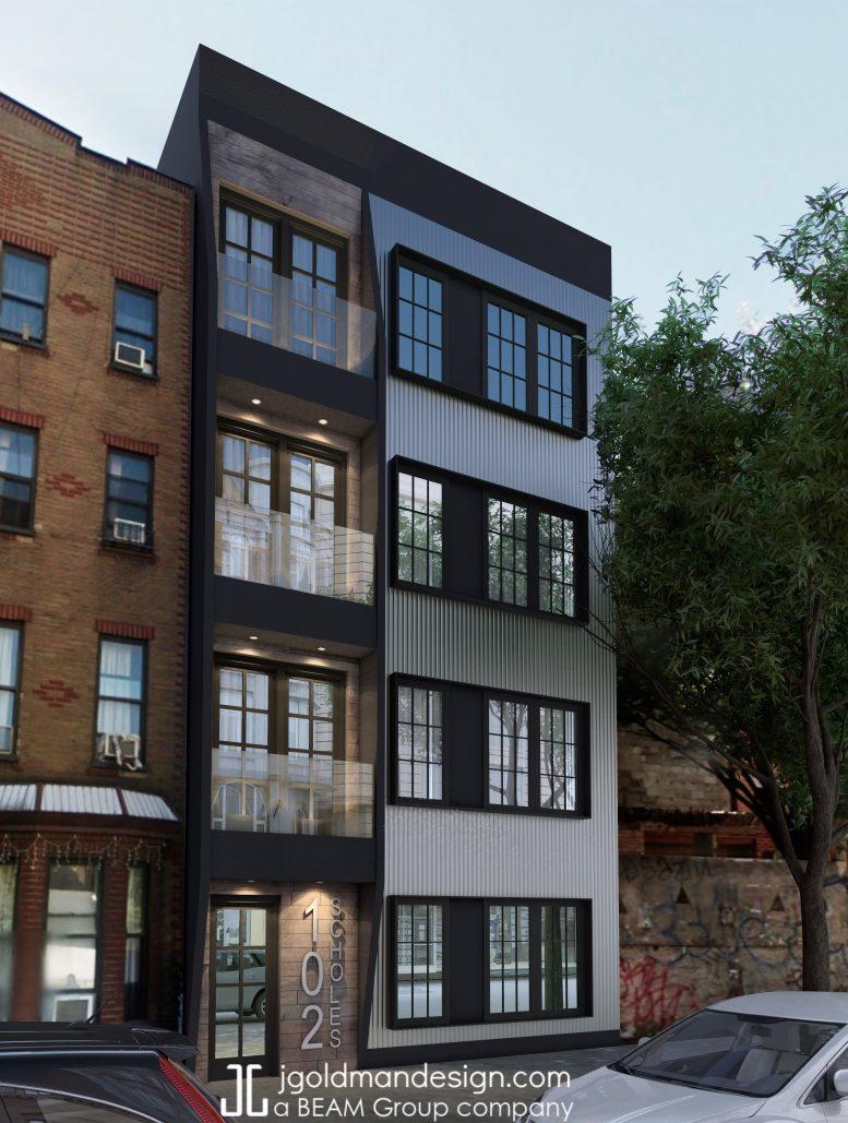 102 Scholes Street, rendering by Beam Group