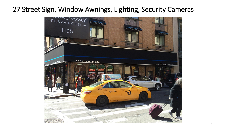 1155 Broadway Canopy Signage