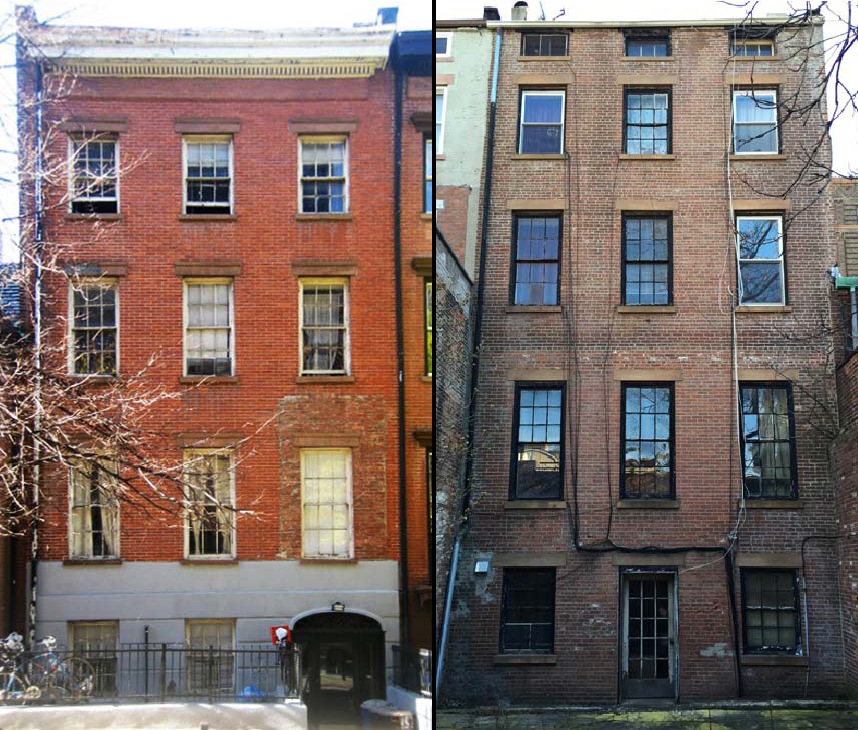 152 Henry Street, front and rear, existing conditions