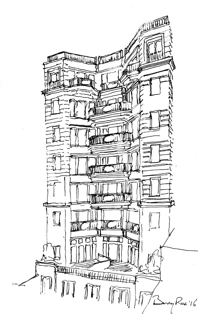 164 West 74th Street, sketch by Barry Rice Architects164 West 74th Street, sketch by Barry Rice Architects