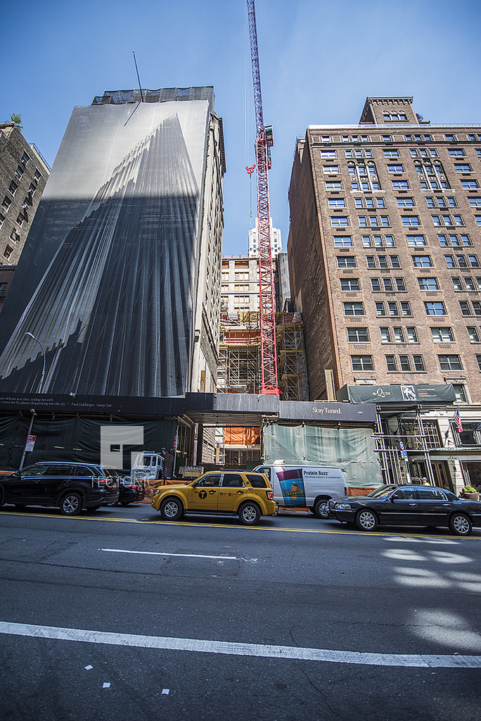 Construction at 111 West 57th Street. Photo by Tectonic via YIMBY Forums