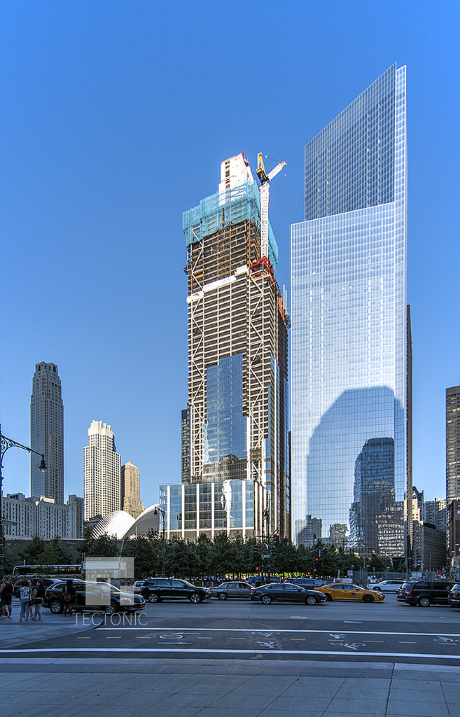 3 World Trade Center and 4 World Trade Center (left to right). Photo by Tectonic via YIMBY Forums