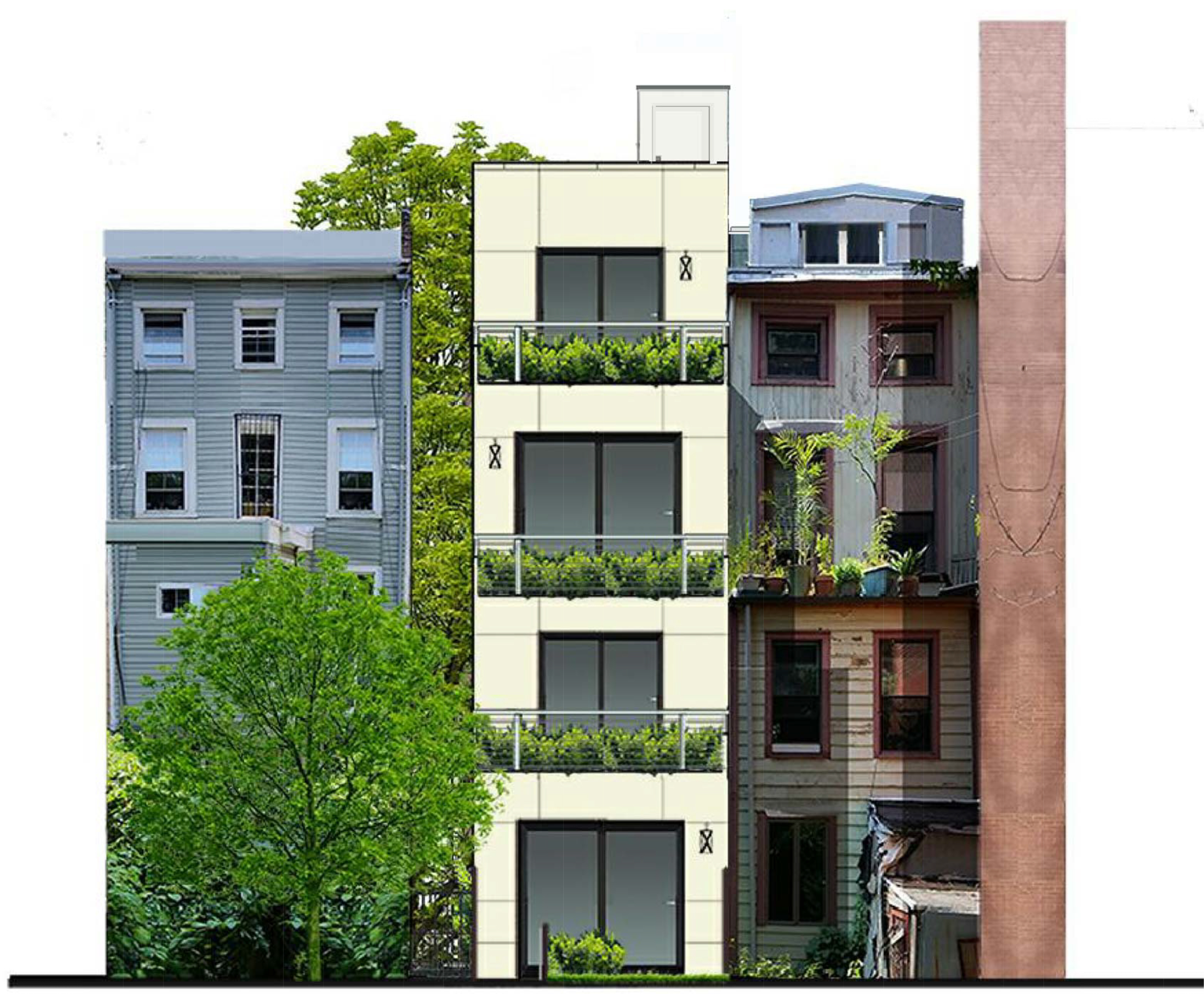 Proposal for rear of 39 South Elliott Place