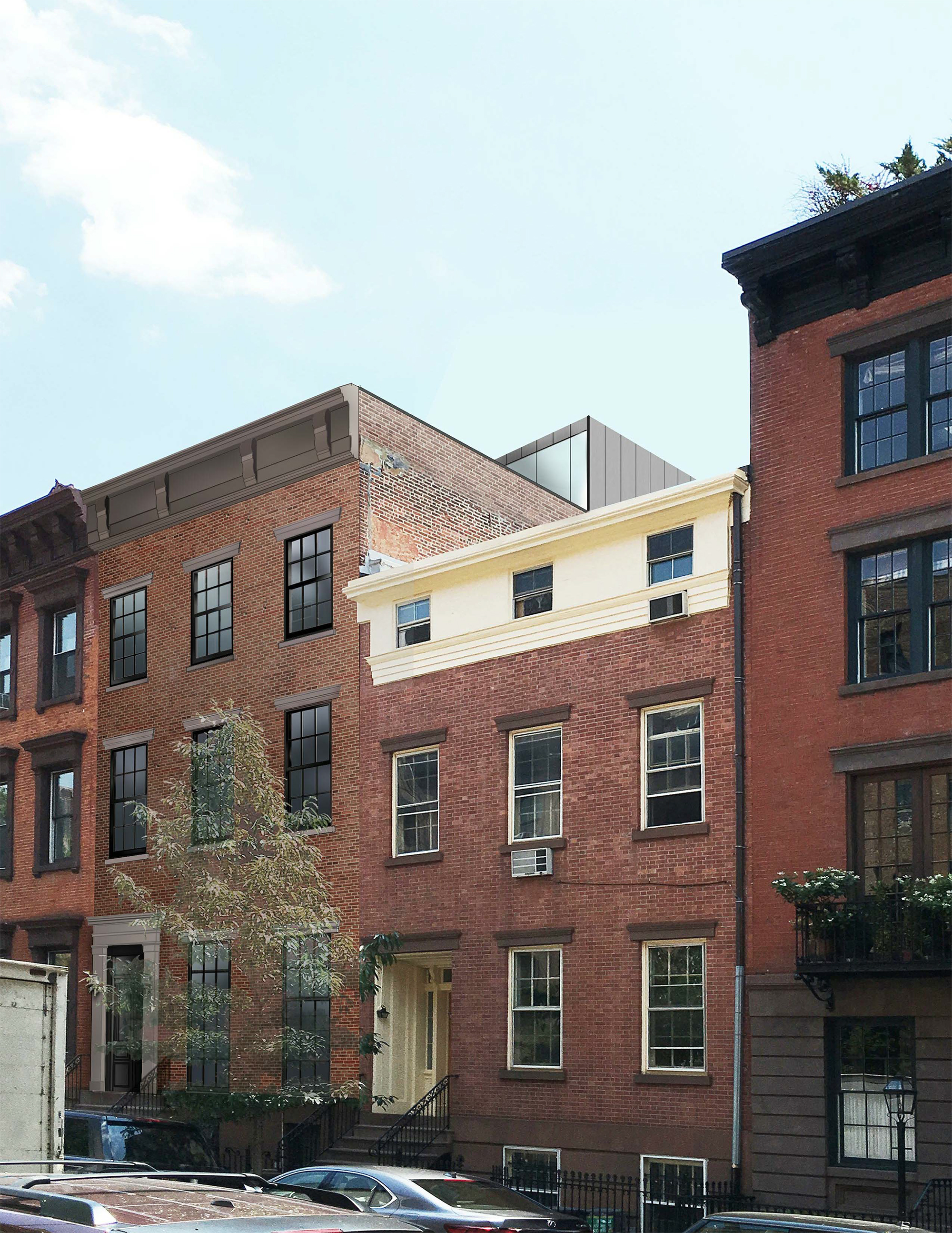 Proposal for 442 West 22nd Street, seen at left