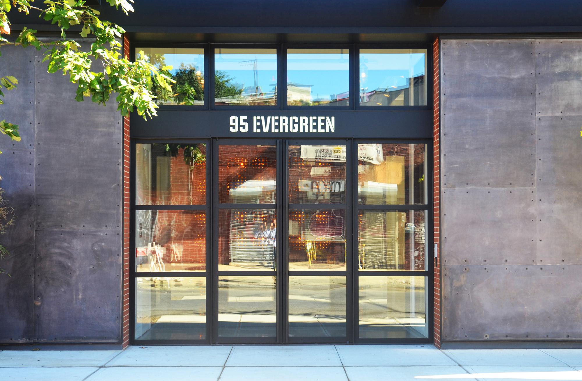 Main entrance of 95 Evergreen Avenue