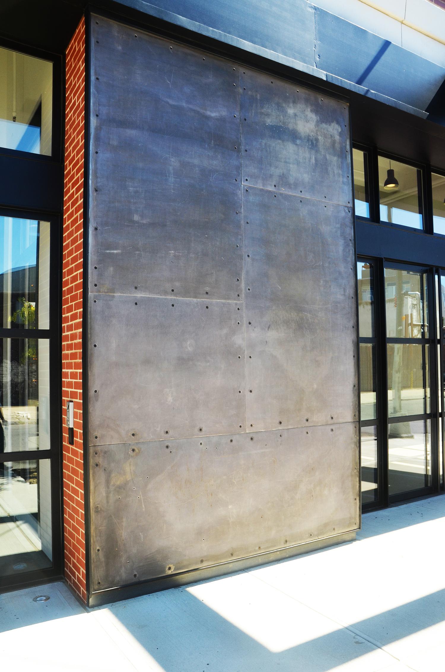 95 Evergreen Avenue, facade panel close-up
